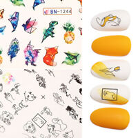Nail Water Transfer Decals Stickers Multi Image Colorful Nail Art Accessories