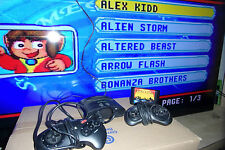 AtGames Mega Drive piccola console 16 GIOCHI gioca PAL NTSC CART's Inc 'Freccia Flash