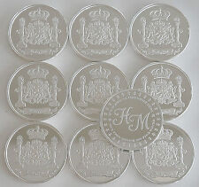 """10 ONE OZ HW MINTING HERALDRY MINT """"GERMANY"""" FINE .999 SILVER COINS SILVER ROUND"""