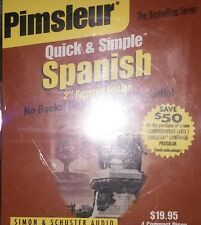Pimsleur Quick and Simple Spanish 2nd Revised Ed.(4 Disc Set) IN GENERIC CASES