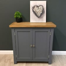 Painted Oak Linen Cupboard Dark Grey Cabinet / Solid Wood Sideboard / NEW Trend