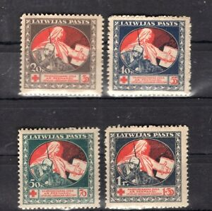 Old stamps of Latvia 1921 # 65-68y   MLH  140.-Euro