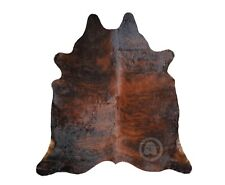 New Cowhide Rug DARK BRINDLE COLOMBIA Leather Cow Skin Cow Hide Upholstery