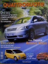 Quattroruote 550 2001 La piccola Fiat rimpiazza Panda e Seicento. BMW [Q.56]