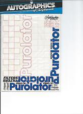 AutoGraphics #631 Purolator 1/10 scale decal