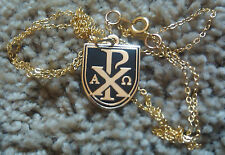 """Chi-Rho"" or ""sigla"" / Alpha-Omega Pendant with FREE /24"" Chain"