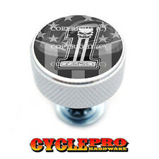 Chrome Knurled Billet Seat Bolt 96-UP Harley Touring  GHOST FLAG USA NO 1 - 192