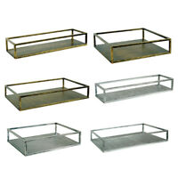 Decorative Vintage Style Metal Plate Drinks Display Tray Home Storage Trays