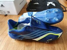 Adidas X 506+ Tunit FG Colligiate Blue/Solar F50 Firm Ground Boots NEW Size 9