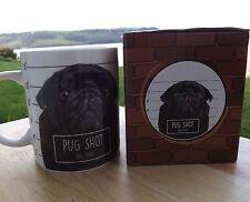 Pug mug , Pug Shot dog bone china coffee mug , dishwasher & microwave safe
