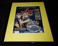 Yu-Gi-Oh 2003 Dungeondice Monsters Game Boy Framed 11x14 ORIGINAL Advertisement
