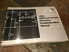 1985 BMW E28 528e 528i 535i Electrical Troubleshooting Wiring Diagram Manual