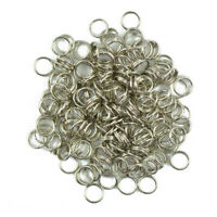 200pcs/Lot Steel Metal Key Split Ring Keyrings Key Chain Findings Making 6mm/8mm