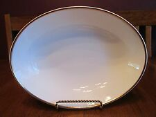 Beautiful Royal Doulton Alice Oval Gold Rimmed Bowl ~ Bone China Made In England