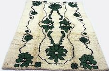 "Antique Turkish vintage handmade hand-knotted thick rug 55"" x 83"" pure wool #62B"