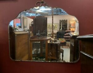 1920's Art Deco Pie Crust Mirror