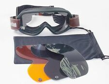 BARUFFALDI SPEED 4 BOSCO GREEN GOOGLES LENSES ORANGE GREY GREEN CLEAR SKI ATV