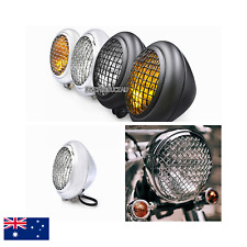 "6 3/4"" Motorcycle grill retro vintage headlight Harley chopper bobber custom XL"