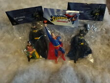 "NEW & SEALED SET OF 3 SUPERMAN/BATMAN/ROBIN 5"" ORNAMENTS! DC! STOCKING STUFFERS!"
