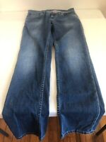 Men's ROBERT GRAHAM Slim Jim Checks Cotton Blend Jeans 32 x 33 Made In ITALY