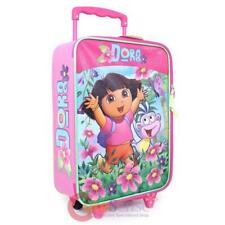 Dora The Explorer Pilot Case Rolling Luggage Trolley Luggage Bag Flowers