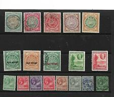 ANTIGUA -1908-32 -Stockcard of Values mint/used with values to 1/-