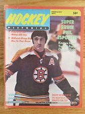 Hockey Pictorial PHIL ESPOSITO February 1971 BOSTON BRUINS Magazine