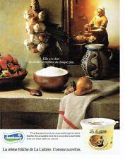 PUBLICITE ADVERTISING 0217  1986  la creme fraiche La Laitière de Chambourcy