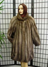 New Top Quality Muskrat Fur Coat Women Sz10-12