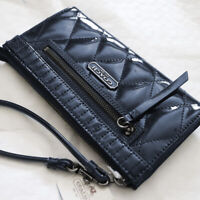 NEW COACH Madison Quilted Leather Zippy Clutch/ Wallet/ Wristlet Cobalt Blue NWT