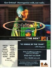 Vintage print Radio Music Promo Orbital the Box Homogined milk not radio nice ad