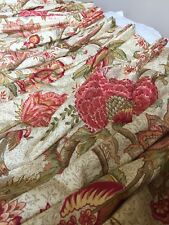 """Custom Made Curtains Drapes 1 Pair 2 Panels 75"""" W X 96"""" L Heavy 2 Linings Floral"""