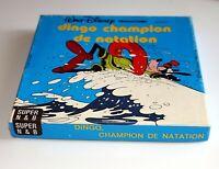 film Super 8 pour projecteur Walt Disney Dingo champion de natation vintage 45m