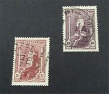 nystamps British Australia Stamp # 177.178 Used $25   A9y1348