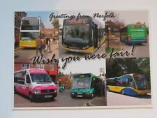 Modern Norfolk Buses Multi View real photo Postcard
