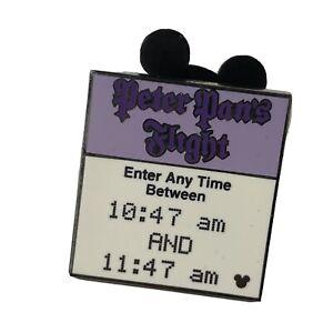 Disney Pin 62716 Peter Pan Flight Completer Fast Pass Hidden Mickey 2008