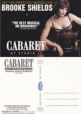 CABARET - THE MUSICAL WITH BROOKE SHIELDS UNUSED ADVERTISING COLOUR POSTCARD