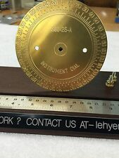 BRASS ENGRAVING PLATE FOR NEW HERMES FONT TRAY INSTRUMENT DIAL 0-360 DEGREES