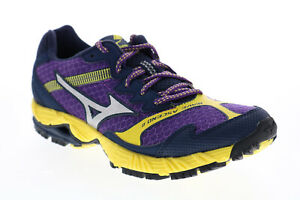 Mizuno Wave Ascend 8 R354B56 Womens Purple Mesh Lace Up Athletic Running Shoes 8