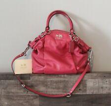 Coach Madison Lindsey Pink Leather Purse Satchel Handbag Tote