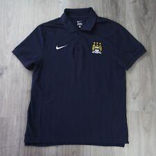Vintage para Hombre Nike Manchester Man City Pique Camisa Pólo de Algodón L