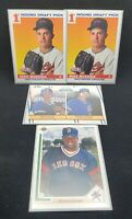 Lot of 4 Rookie Card lot Mark Grace Mark Mussina Maurice Vaughn NM-MT 20-2210C