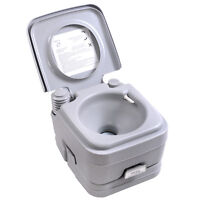 2.8 Gallon 10L Portable Toilet Commode Camping Outdoor/Indoor Toilet Flush Potty