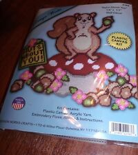 Cute NUTS ABOUT YOU Squirrel Plastic Canvas Kit  Design Works