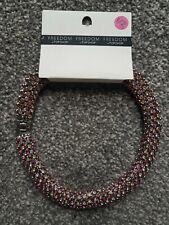 Diamante Silver Necklace 50cm Freedom At Topshop Chunky Pink