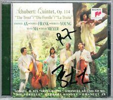 Yo-Yo MA Pamela FRANK Signed SCHUBERT Trout Quintet Arpeggione Emanuel AX BONNEY