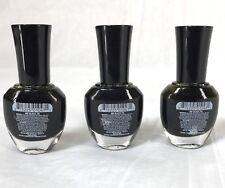 Confetti 095 Long Wearing Nail Polish Color .37 oz Black Tie LOT OF 3 New