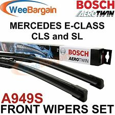 MERCEDES E-Class CLS and SL Genuine BOSCH A949S Aerotwin Front Wiper Blades Set