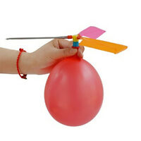 10X Childrens Kids Balloon Helicopter Flying Kit Party Bag Filler Flying Toy AU~