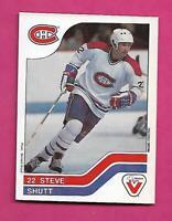 RARE 1983-84 CANADIENS STEVE SHUTT  VACHON FOOD CARD (INV# C5488)